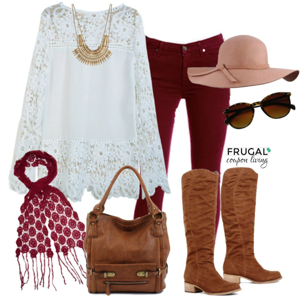 Frugal Fashion Friday Cranberry Fall Outfit