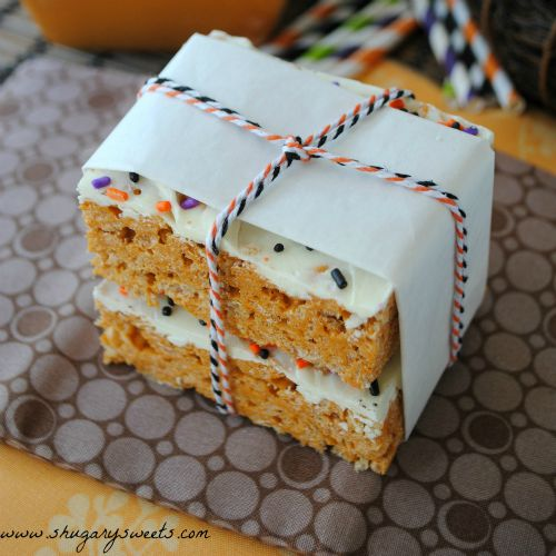 pumpkin-rice-krispies-square