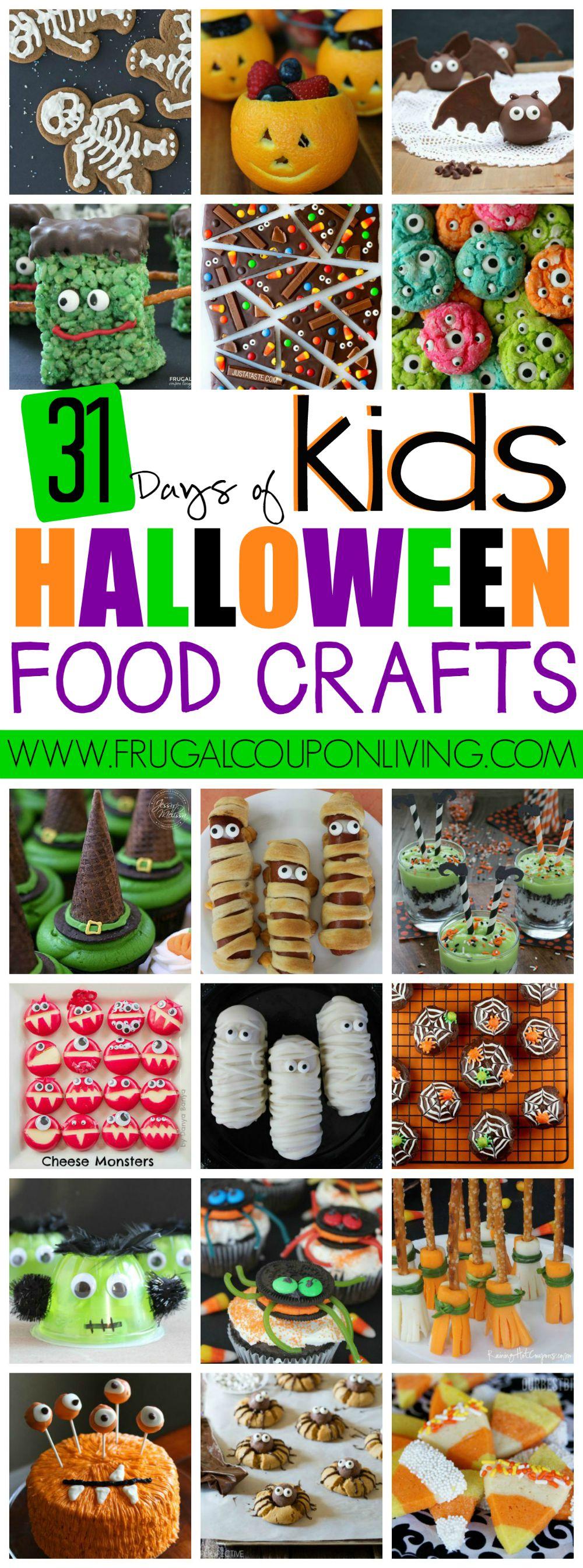 31+ days of kid's halloween food crafts