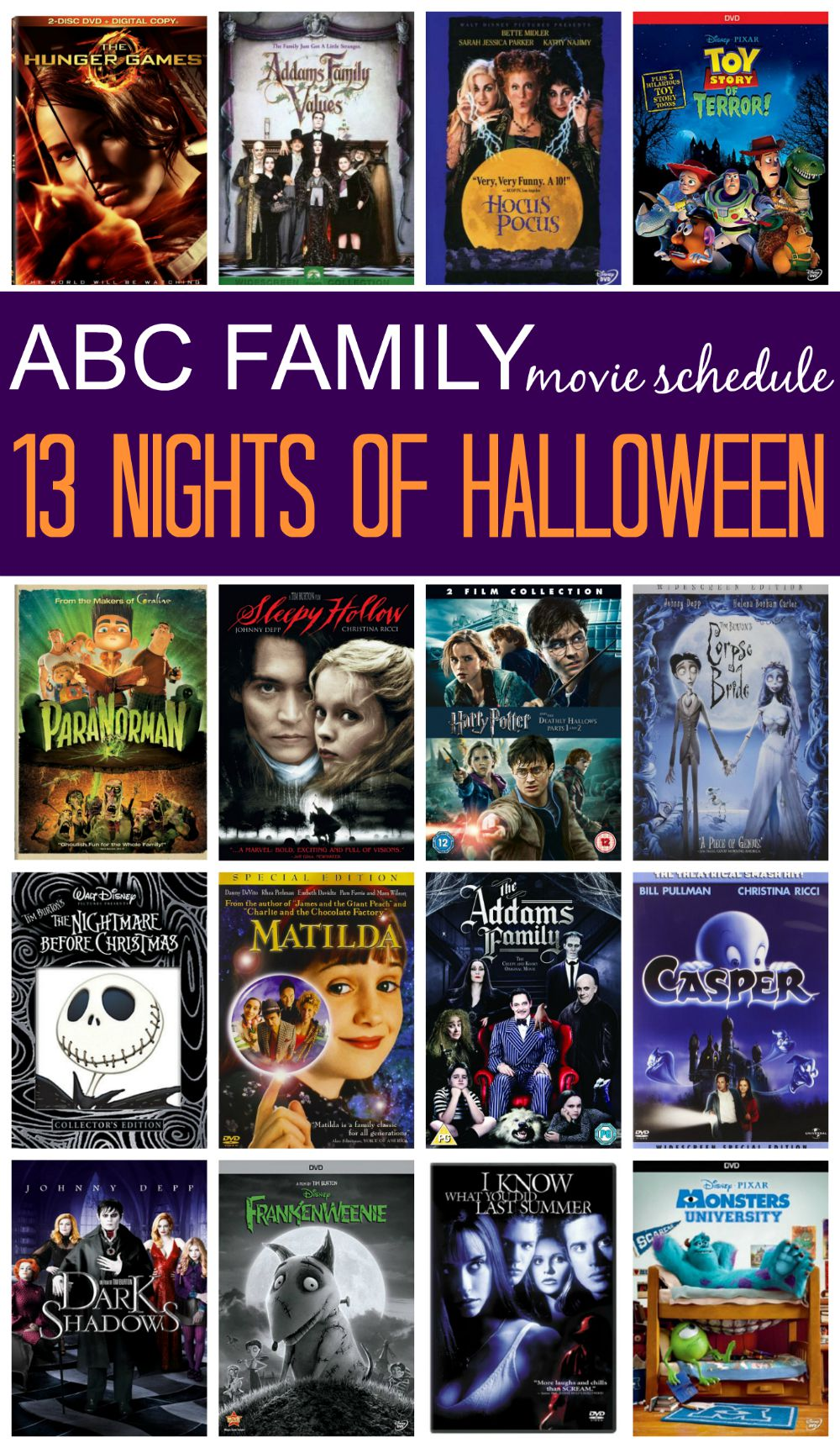 Abc Family List Of Halloween Movies