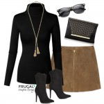 Frugal Fashion Friday Fall Suede Skirt Outfit on Frugal Coupon Living