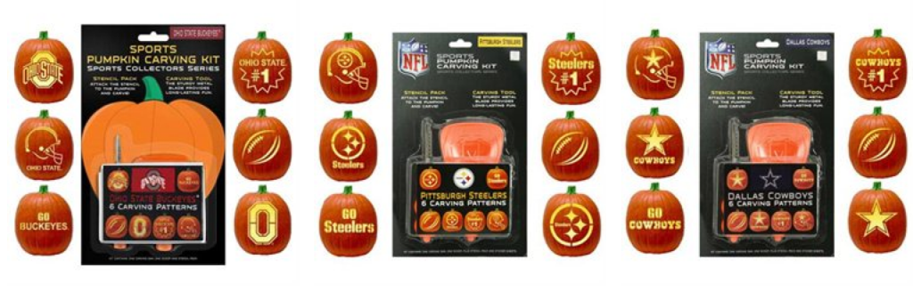 Football pumpkin carving kits only shipped