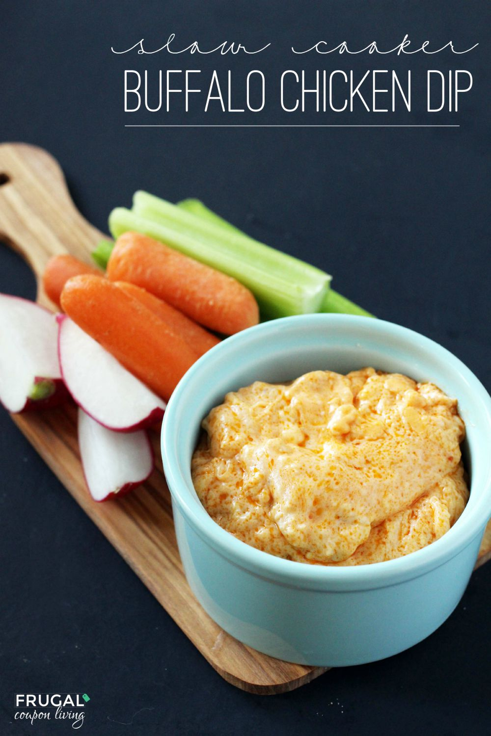 Slow Cooker Buffalo Chicken Dip on Frugal Coupon Living