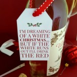 White Christmas Wine Gift Tag on Frugal Coupon Living 500