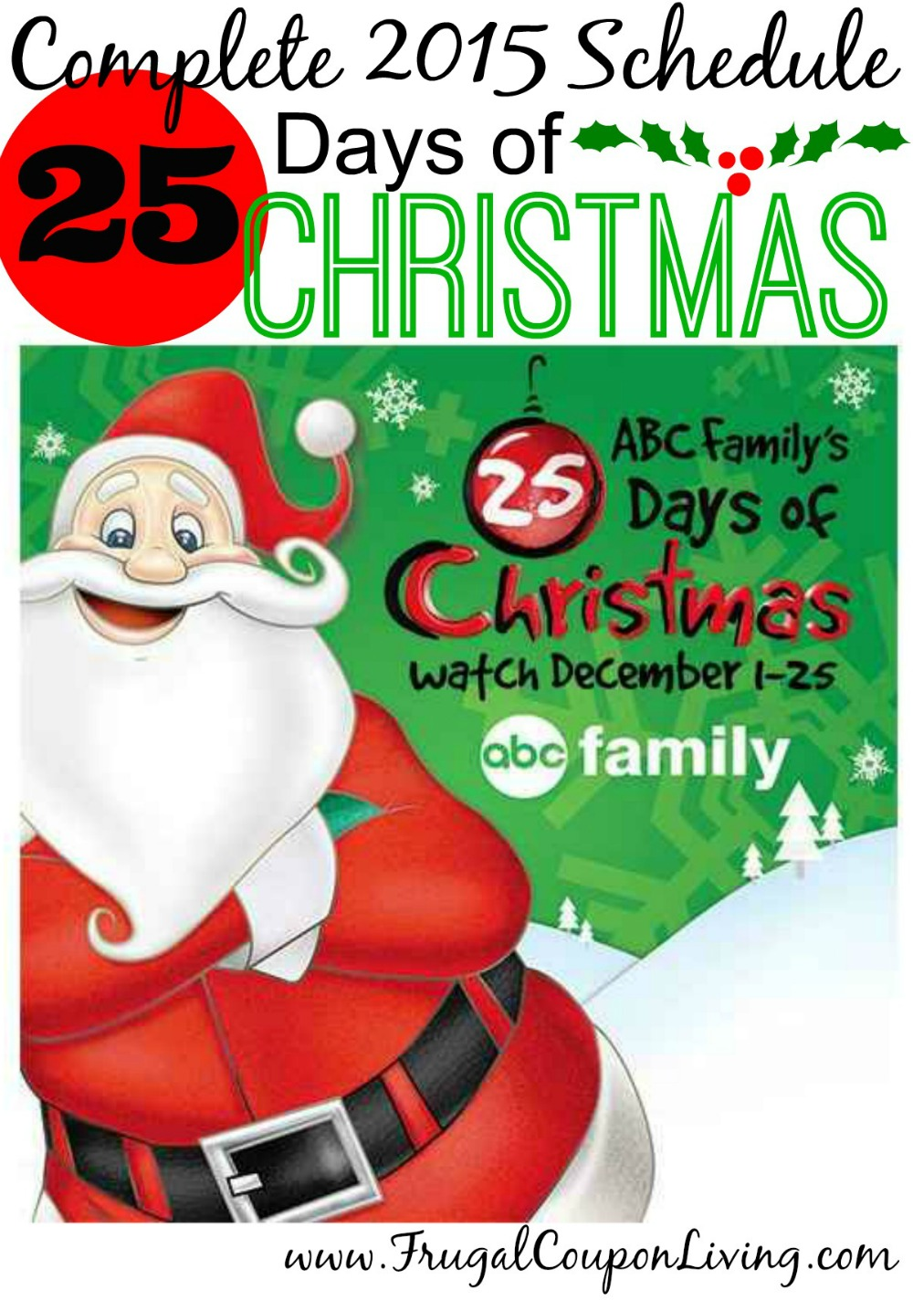 Abc Family 25 Days Of Christmas.Abc Family 25 Days Of Christmas 2015 Schedule