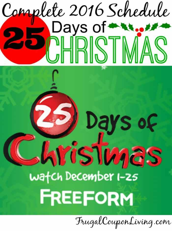 2016 25 days of christmas abc family schedule - 25 Days Of Christmas Abc Family