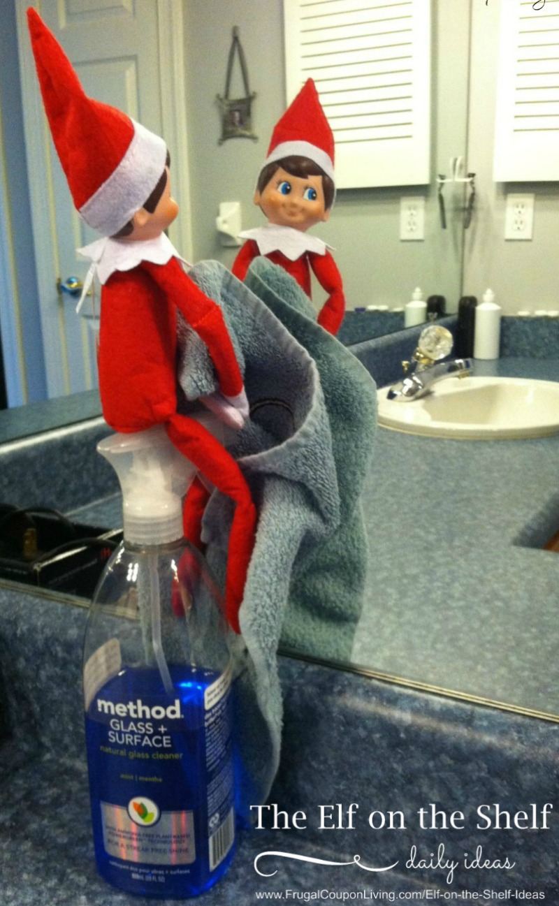Elf-Cleans-Frugal-Coupon-LIving-Elf-on-The-Shelf-idea
