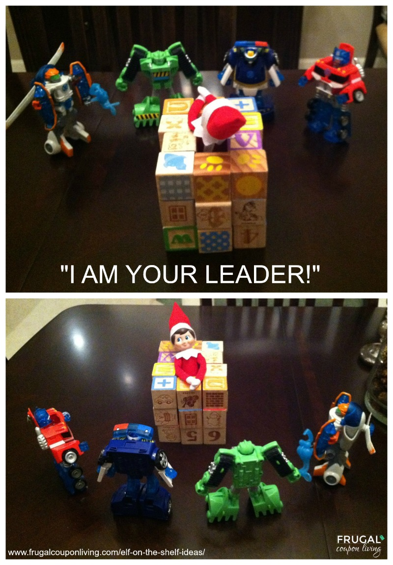 "Elf on the Shelf Ideas | ""I Am Your Leader"" Elf"