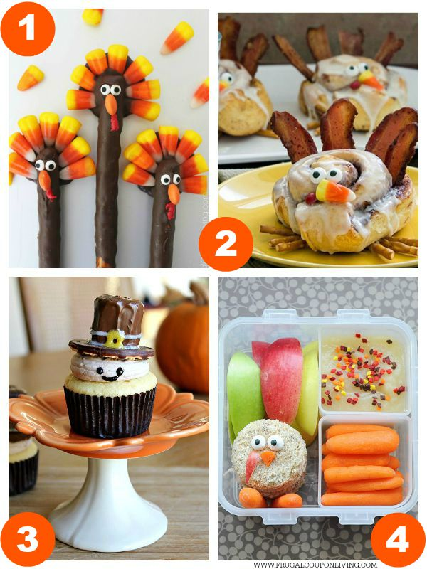 Kid Food Craft Thanksgiving Collage 1