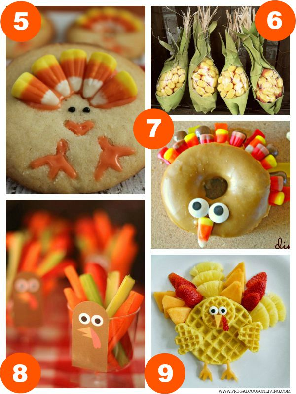 Kid Food Craft Thanksgiving Collage 2