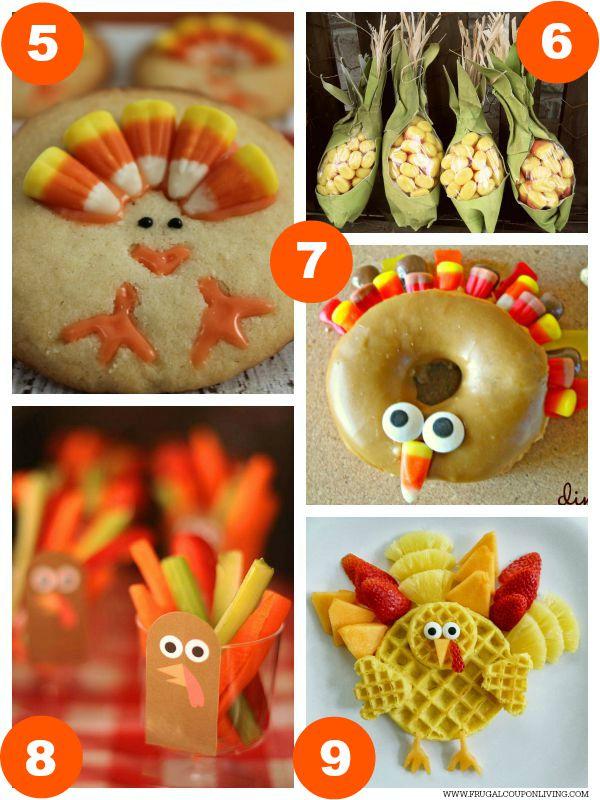 Kid Food Craft Thanksgiving Collage 2
