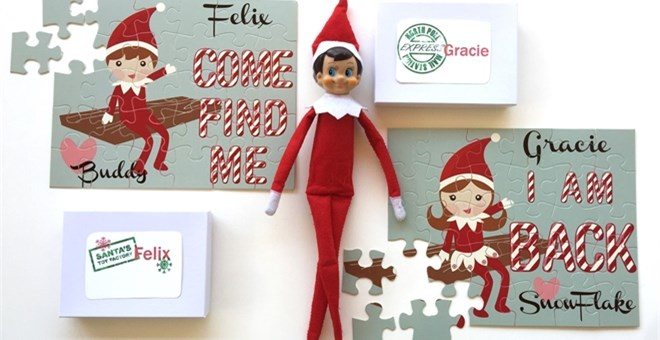 personalized elf on the shelf puzzles for 12 99