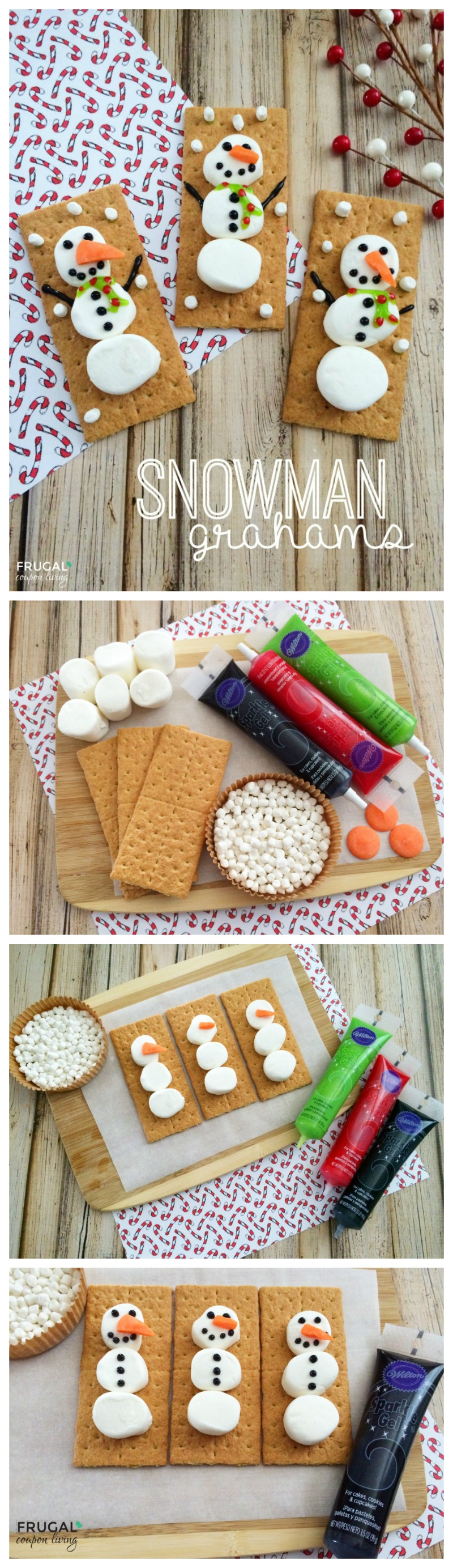 Classroom Craft Ideas ~ Snowman grahams holiday kids food craft