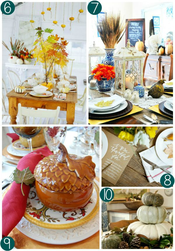 Thanksgiving Tablescape Collage 2 on Frugal Coupon Living