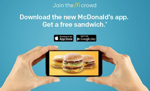 Mcdonald's app no coupons