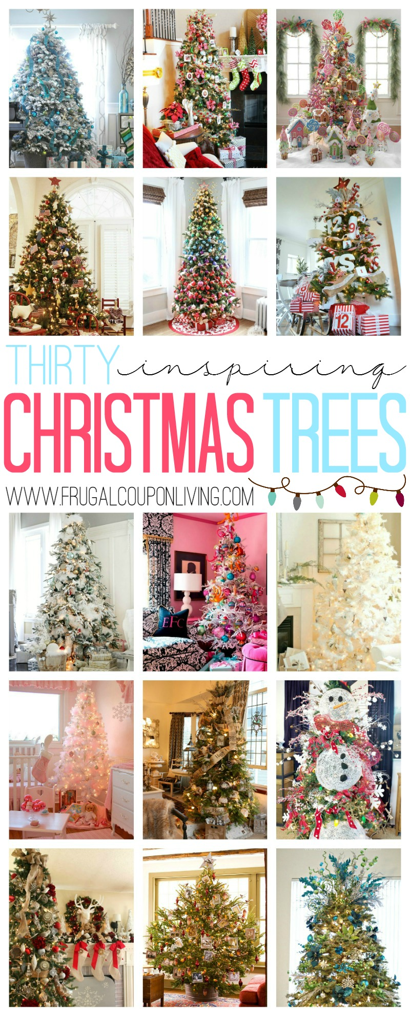 30 Inspiring Christmas Tree Ideas on Frugal Coupon Living