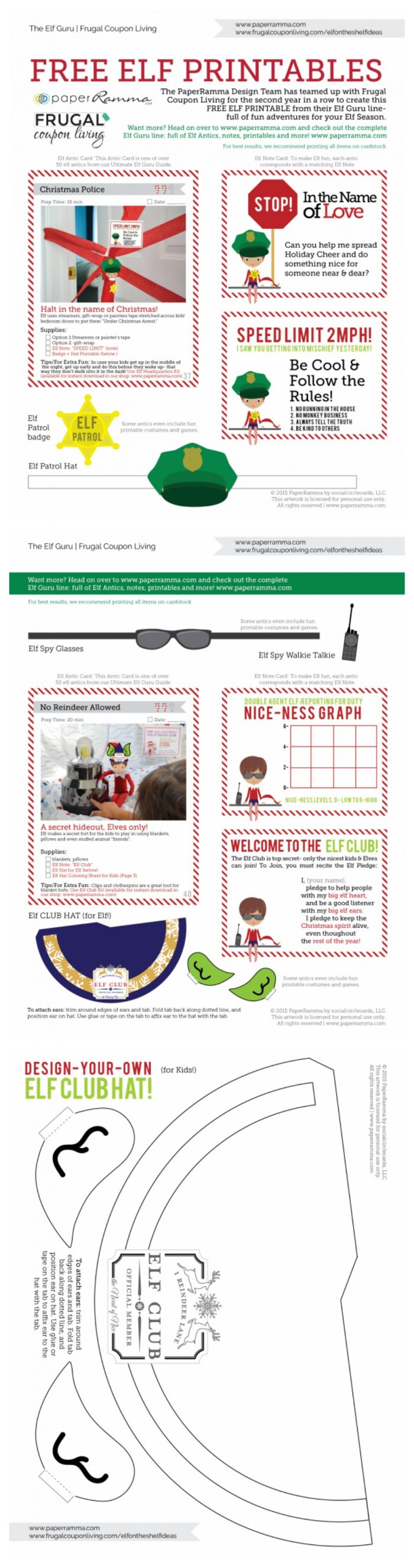 Elf-On-The-Shelf-Costumes-Collage-Vertical-Frugal-Coupon-Living