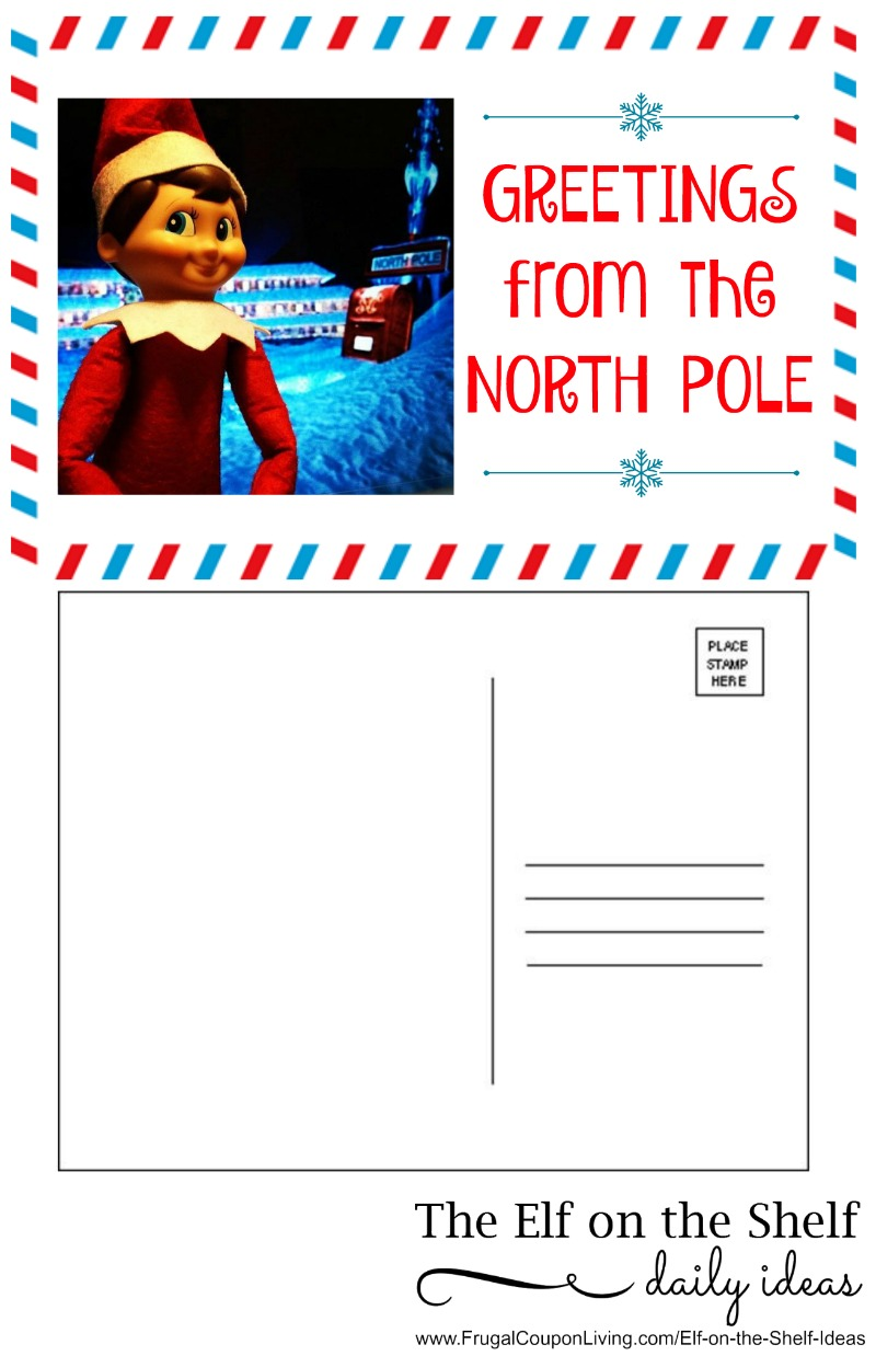 photograph regarding Elf Printable Coupons called Elf upon the Shelf Programs Elf Sends a Postcard Printable