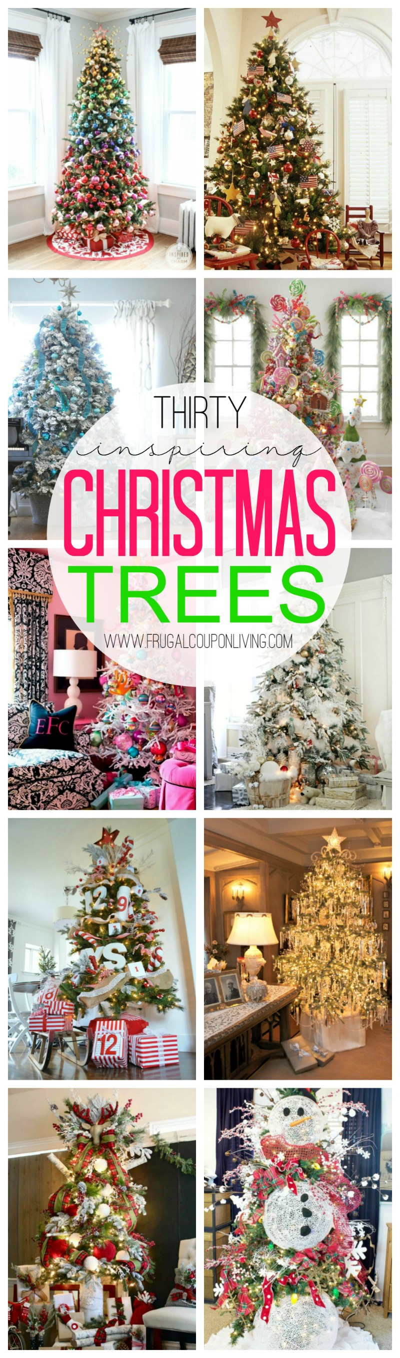 Thirty Inspiring Christmas Trees on Frugal Coupon Living