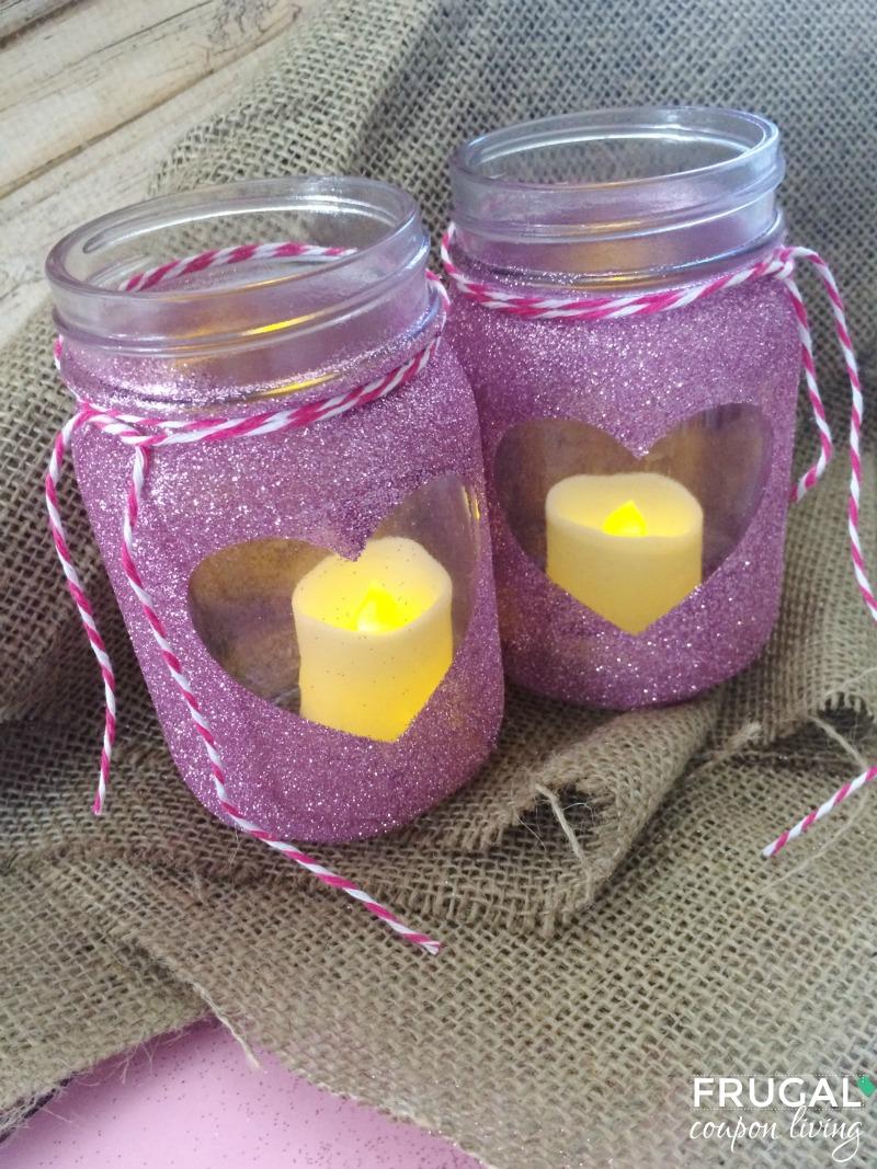 Homemade Valentine Luminaries Mason Jar Craft