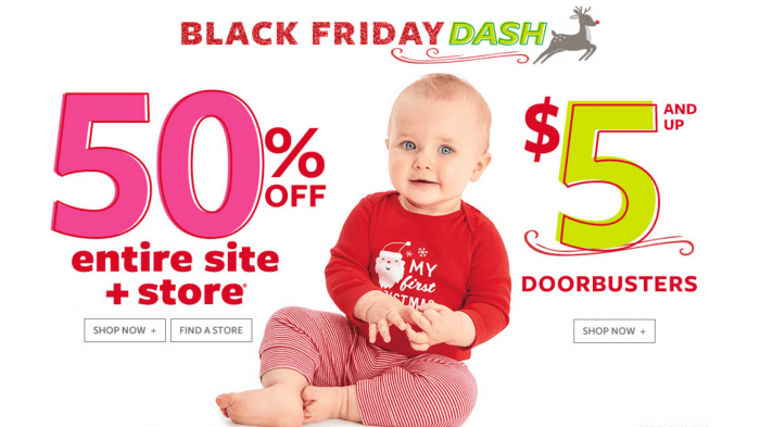 Carter's Black Friday A leading American children's brand, Carter's offers clothing, gifts, and accessories with thoughtful details and whimsical designs. Quality materials and convenient shopping options make Carter's a trusted place to shop for little ones.