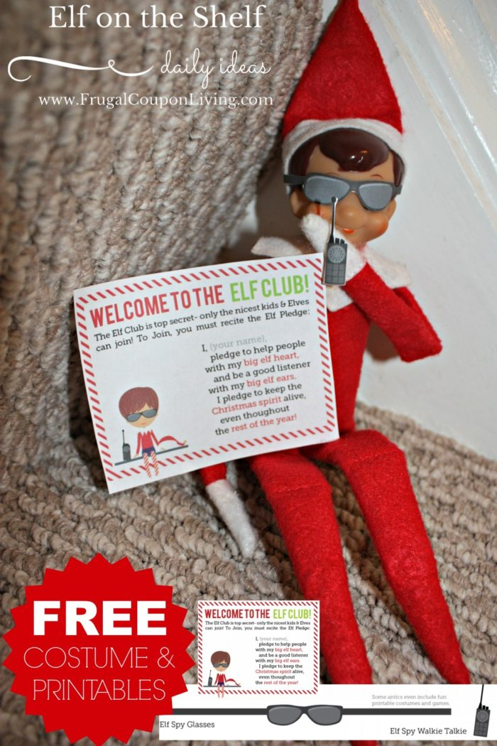 Elf on the Shelf Ideas | Printable Elf Costumes
