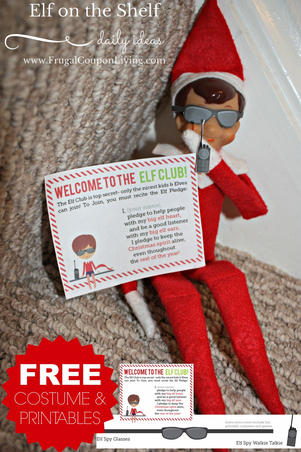 image regarding Elf Printable Coupons referred to as Elf upon the Shelf Programs Elf is upon a Mission