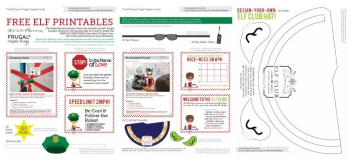 picture relating to Elf Printable Coupons called No cost Elf upon the Shelf Costumes and Elf Printable Notes
