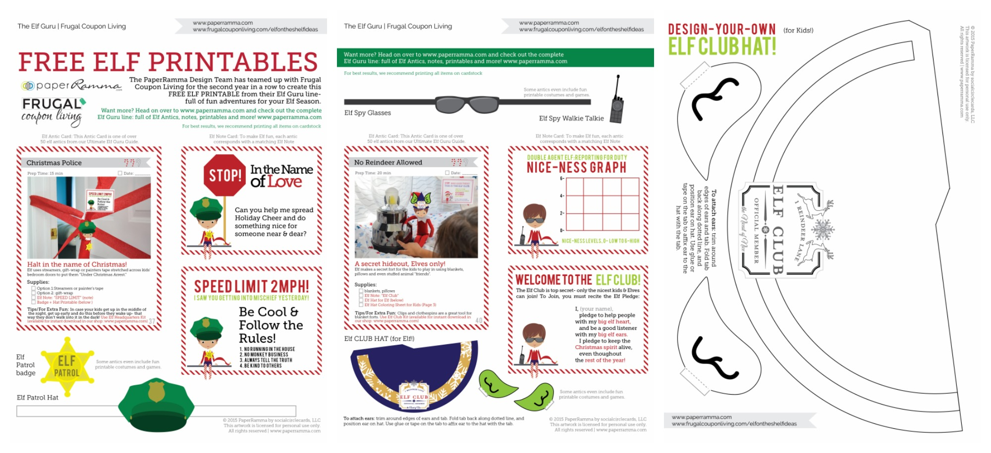 elf-on-the-shelf-costumes-printable-notes-collage-horizontal-frugal-Coupon-Living