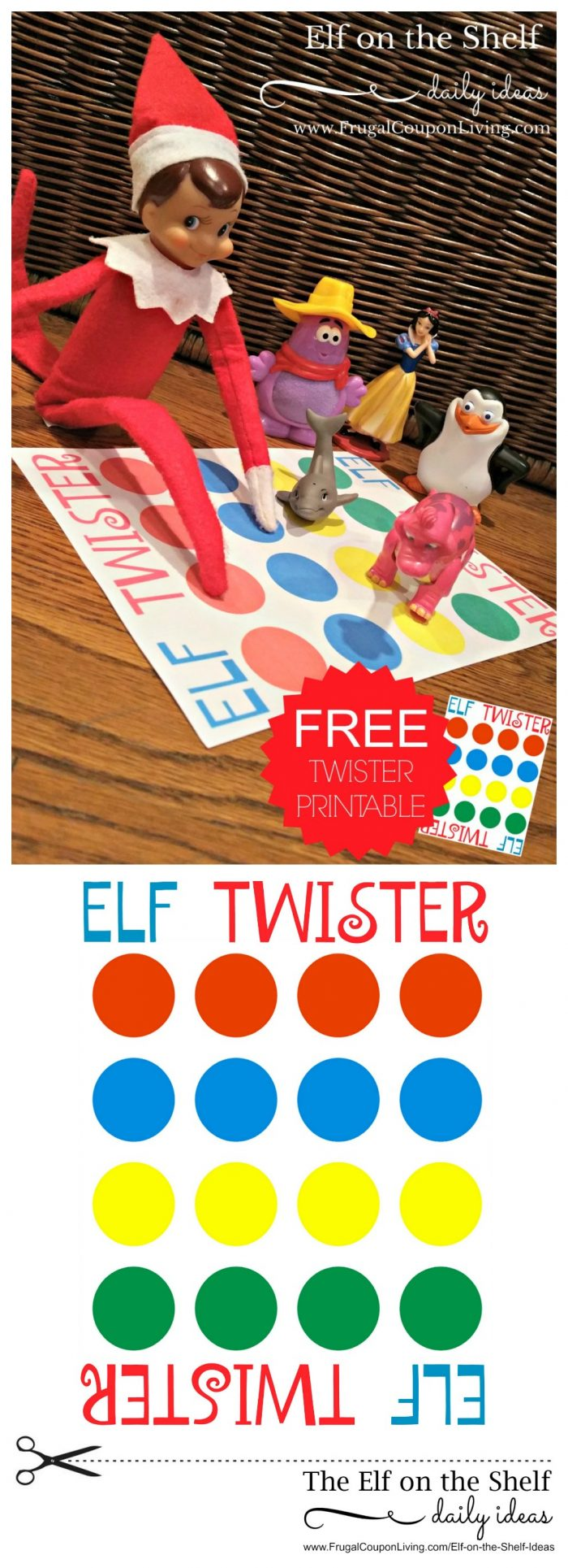 photo about Twister Spinner Printable titled Elf upon the Shelf Suggestions Elf Twister Printable