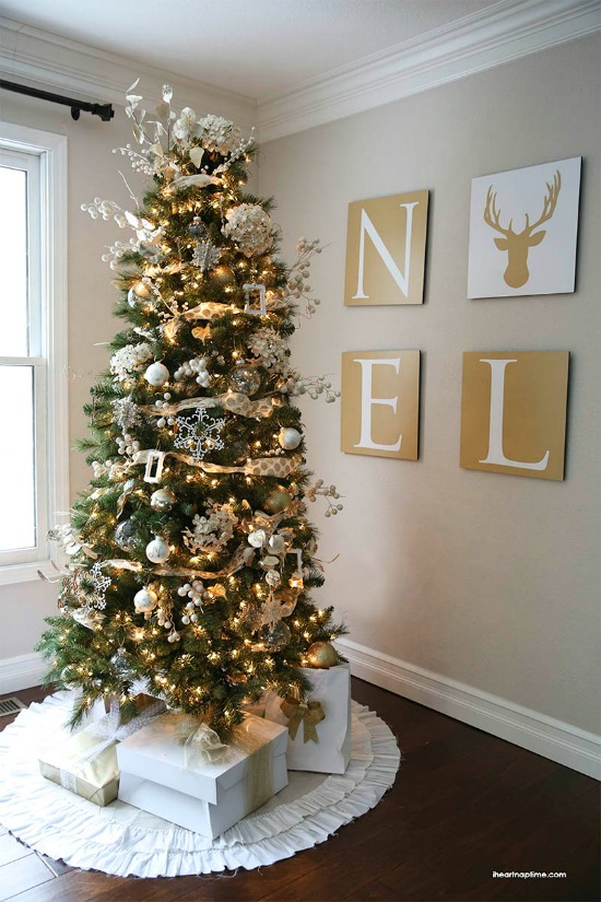 30 inspiring christmas tree ideas Brown and gold christmas tree