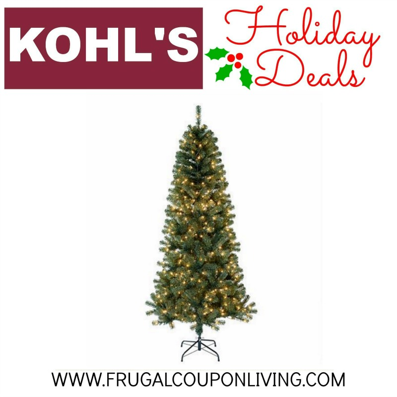 Kohls Christmas Trees.Today Only St Nicholas Square 7 Ft Pre Lit Tree 46 From 180