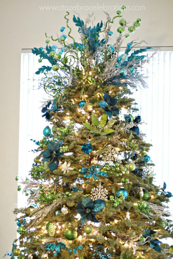peacock christmas tree smaller