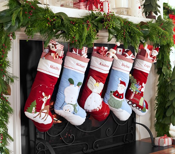 Pottery barn monogrammed stocking shipped