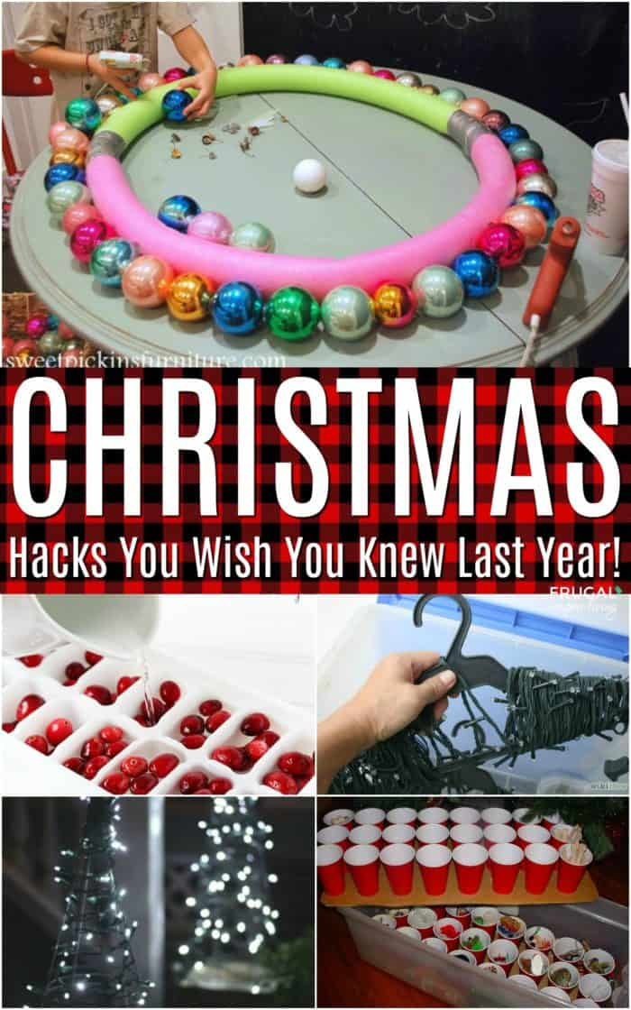 Christmas Hacks and Tips You Wish You Knew Last Year #christmas #Frugalcouponliving #christmasdecor #christmascrafts #hacks #tips #tipsandtricks #christmashints #christmashacks #hacking