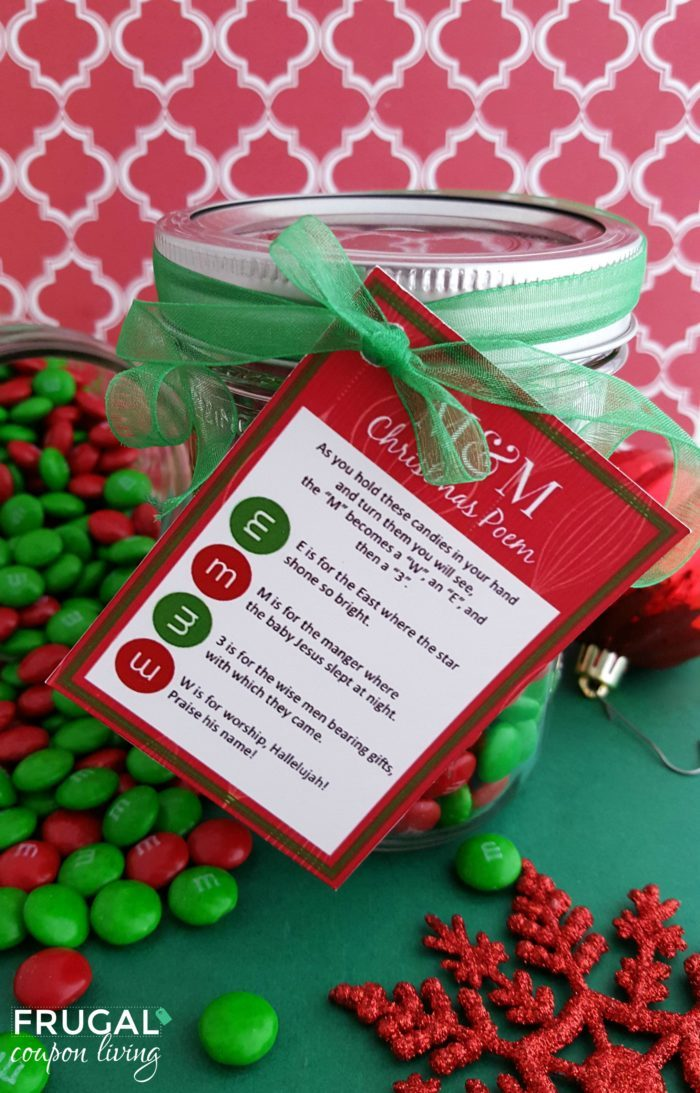 This is a picture of Revered M&m Christmas Poem Printable