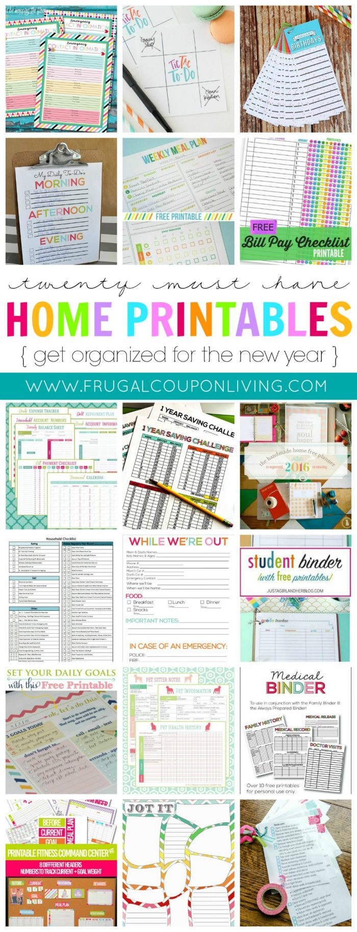 New Years FREE Home Printables on Frugal Coupon Living