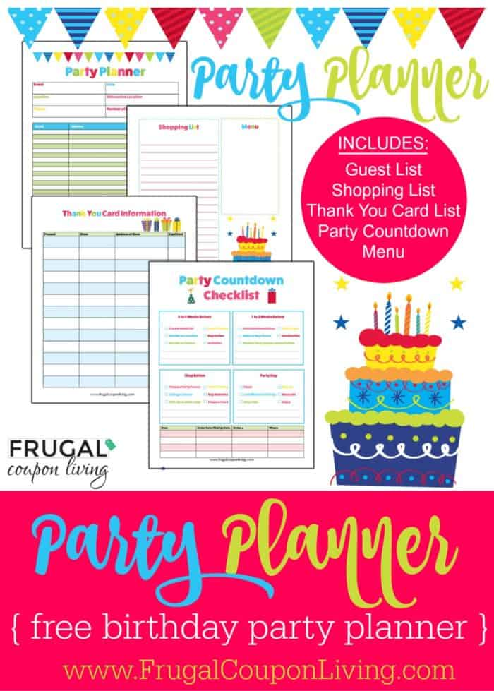 free birthday party planner