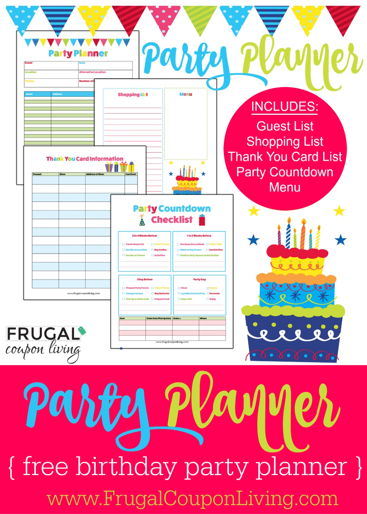Free birthday party planner for Event planning ideas parties
