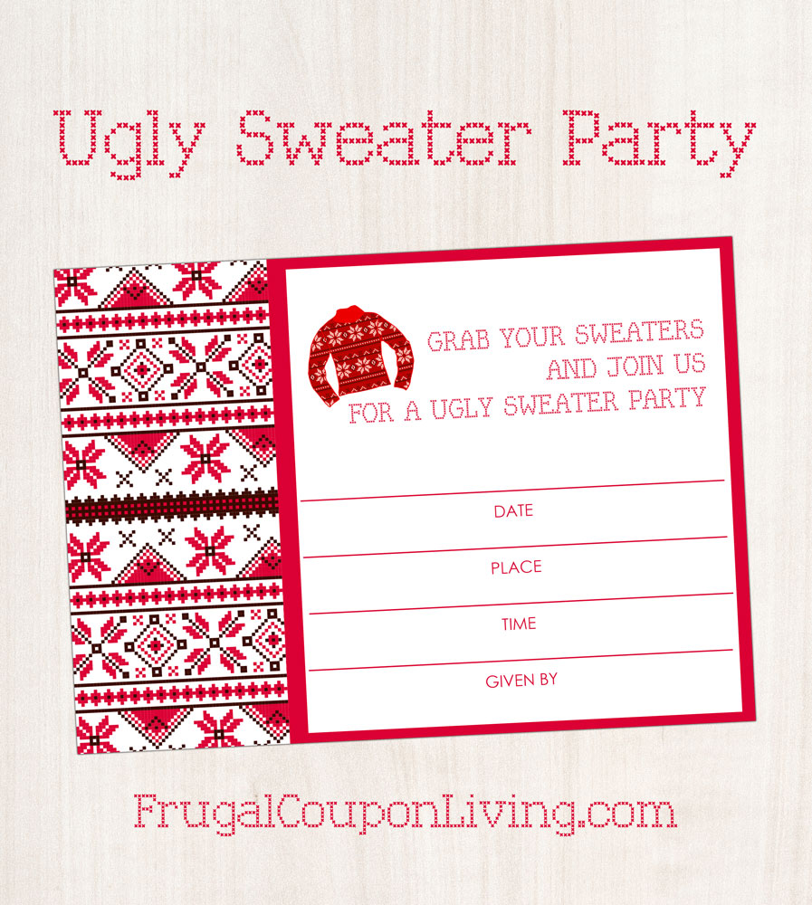 Ugly Christmas Sweater Party Invite.Free Ugly Sweater Party Invite Printable