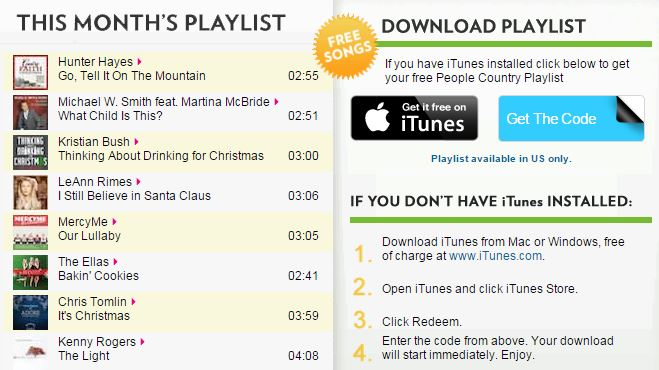 grab this awesome freebie from itunes get these free country christmas music - Free Christmas Music Downloads