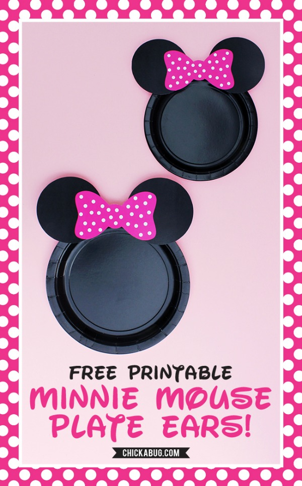 20 free disney printables crafts coloring creativity for Template for minnie mouse ears