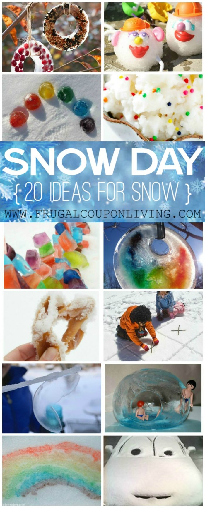 20 Snow Day Ideas on Frugal Coupon Living