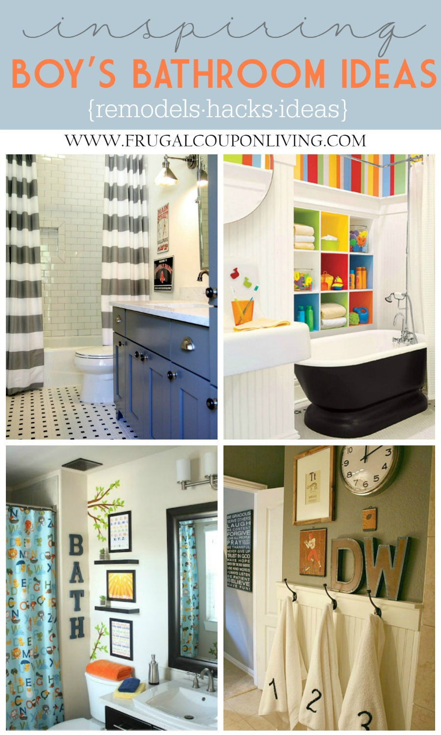 Inspiring kids bathrooms remodels and hacks for Boys bathroom designs
