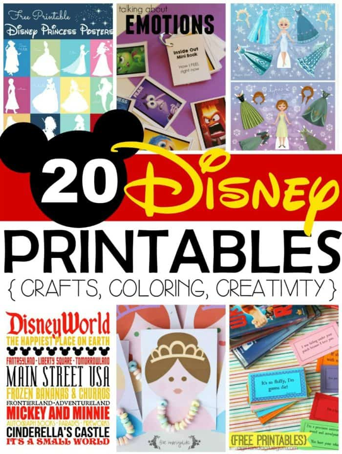 image about Disney World Printable Tickets referred to as 20 No cost Disney Printables - Crafts, Coloring, Creativeness