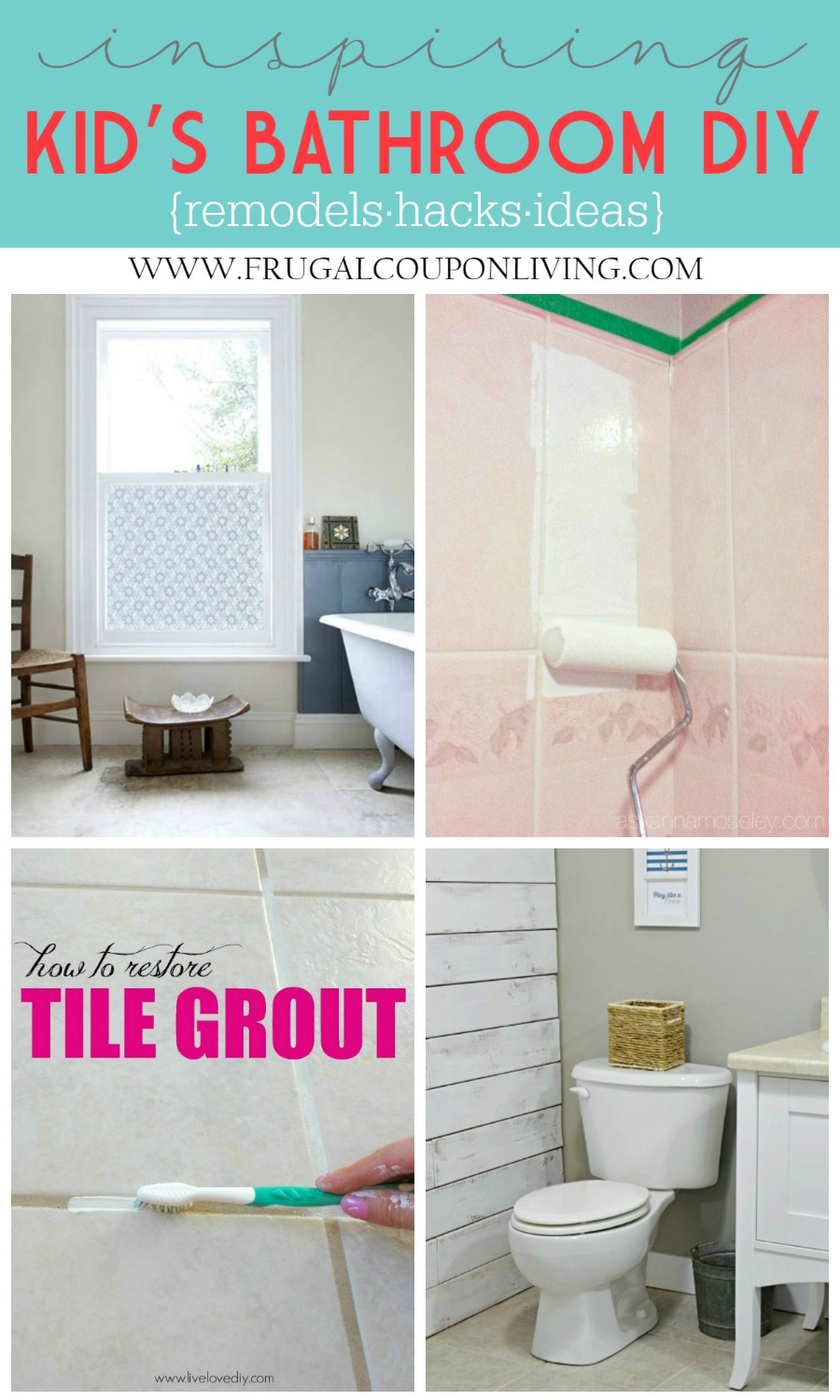 Inspiring Kids Bathrooms, Remodels and Hacks