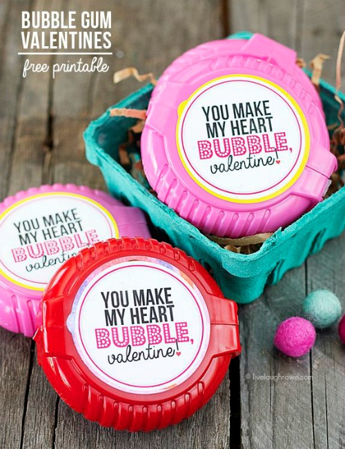 photograph regarding Extra Gum Valentine Printable referred to as 28 Printable Valentines for the Youngsters