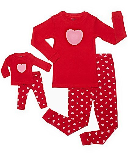 these are super cute for valentines day get this valentines hearts girl doll matching pajama set for as low as 1999 originally 4450 - Valentines Day Pajamas