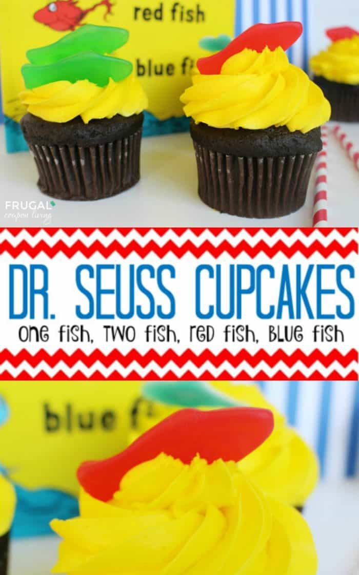 One Fish Two Fish Cupcakes Dr Seuss