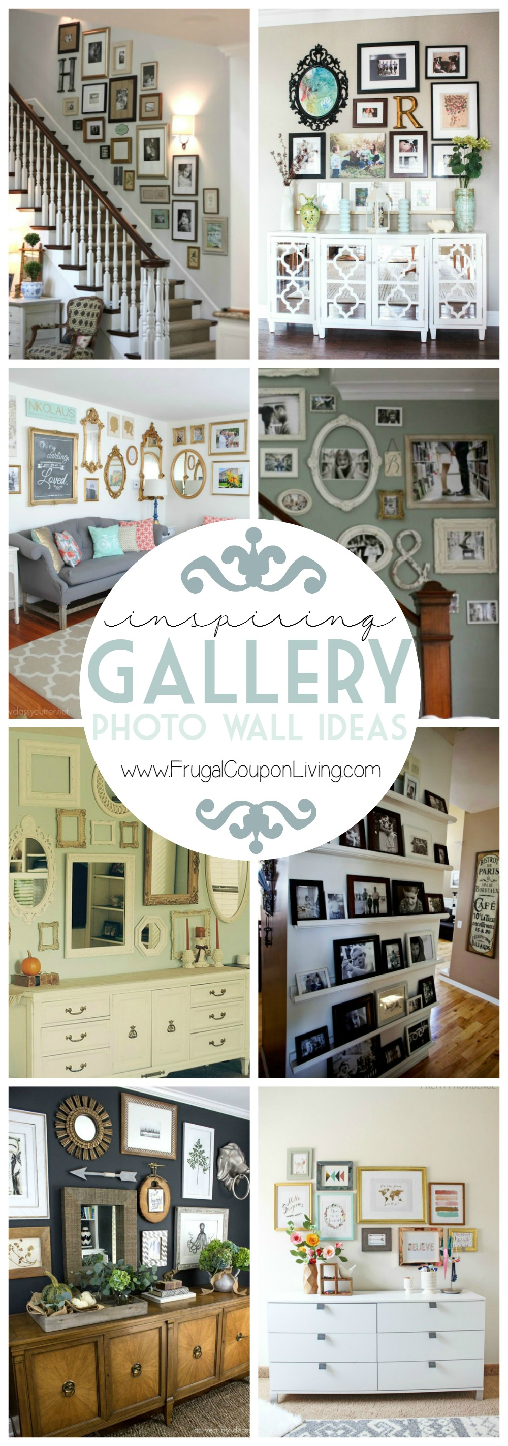 Create a gallery wall ideas for picture frame displays for Displaying pictures in your home